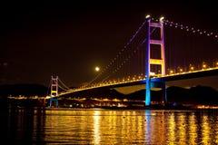 Tsing Ma Bridge Hong Kong Stock Image