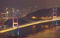Tsing Ma Bridge in Hong Kong Stock Photos