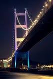 Tsing Ma Bridge in Hong Kong Stock Photo