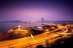 Tsing Ma Bridge Hong Kong Royalty Free Stock Photo