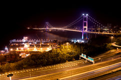 Tsing Ma Bridge, Hong Kong Stock Images