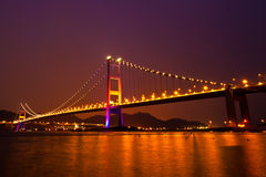 Tsing Ma Bridge of Hong Kong Stock Photos