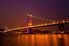 Tsing Ma Bridge of Hong Kong Stock Photos