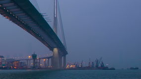 Tsing Ma Bridge Hong Kong stock video