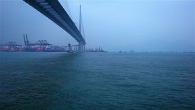 Tsing Ma Bridge Hong Kong stock video footage