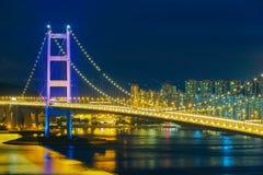 Tsing Ma Bridge, Hong Kong Stock Images
