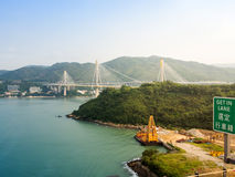 Tsing Ma bridge. Royalty Free Stock Photos