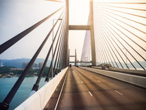 Tsing Ma bridge. Stock Photo