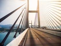 Tsing Ma bridge. Stock Photo