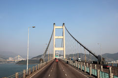 Tsing Ma Bridge in Hong Kong Royalty Free Stock Photography