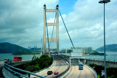 Tsing Ma Bridge in Hong Kong Royalty Free Stock Photos