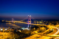 Tsing Ma Bridge, Hong Kong Royalty Free Stock Photography