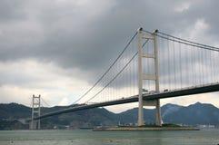 Tsing Ma Bridge in Hong Kong Royalty Free Stock Photos