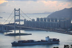 Tsing Ma Bridge Hong Kong Royalty Free Stock Image