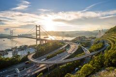 Tsing Ma bridge Royalty Free Stock Photos