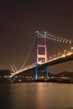 Tsing Ma Bridge night. View, Hong Kong Royalty Free Stock Photos