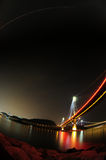 Tsing Ma bridge night scene Royalty Free Stock Image