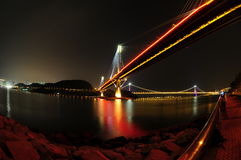 Tsing Ma bridge night scene Stock Image