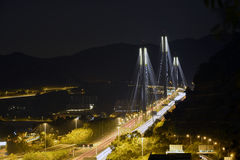 Tsing Ma bridge night view Royalty Free Stock Photo