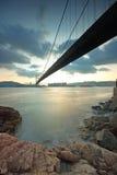 Tsing ma bridge sunset Royalty Free Stock Photos