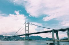 Tsing ma bridge. Take the photo on Hong Kong tsing ma bridge Stock Image