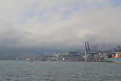 Tsing Yi Container Terminal at hong kong Royalty Free Stock Image