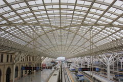 TsingDao järnvägsstation Royaltyfri Fotografi