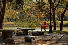 Tsinghua University campus landscape in the Hsinchu,Taiwan Stock Images