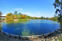 Tsinghua University campus landscape Stock Photos