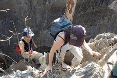 Tsingy DE Bemaraha stock afbeeldingen