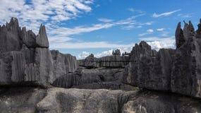Tsingy de Bemaraha. The Tsingy de Bemaraha Strict Nature Reserve is located in the center west of the Province of Mahajanga, Madagascar stock photo