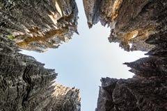 Tsingy himmelsikt Arkivbild
