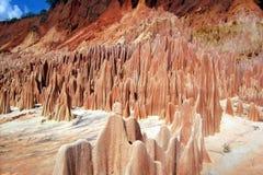 Tsingy rosso. immagini stock