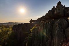 Tsingy sun Royalty Free Stock Photos