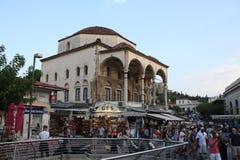 Tsisdarakis清真寺是18世纪无背长椅清真寺,现在功能作为一个博物馆,在中央雅典,希腊 免版税库存图片