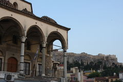Tsisdarakis清真寺是18世纪无背长椅清真寺,现在功能作为一个博物馆,在中央雅典,希腊 库存照片