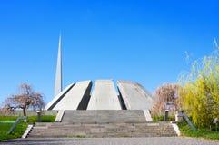 Tsitsernakaberd Är det minnes- komplexet för folkmordet Armenien officiellt minnes- hängivet till offren av det armeniska folkmor Arkivbild