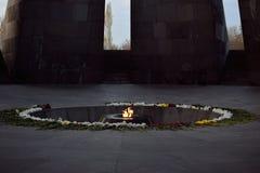 Tsitsernakaberd jest zabytkiem dedykującym ofiary Armeński ludobójstwo obrazy royalty free