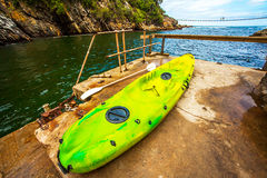 Tsitsikamma National Park South Africa. Kayaks in the Tsitsikamma National Park South Africa Royalty Free Stock Photo