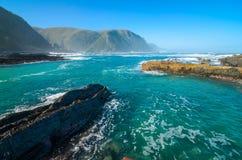 Tsitsikamma park narodowy, Ogrodowa trasa, ocean indyjski, Południowa Afryka Zdjęcia Royalty Free