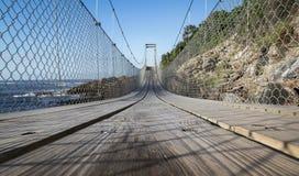 TsitsiKamma upphängningbro Royaltyfri Bild