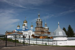 Tsivilsk. Die Jungfrau des Tikhvin Klosters. Lizenzfreies Stockfoto