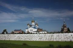 Tsivilsk. The Virgin of Tikhvin Monastery. Stock Photo