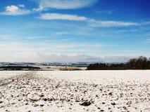 Tsjechisch de winterlandschap Stock Foto