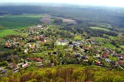 Tsjechisch dorp royalty-vrije stock afbeelding