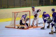 Tsjechisch gealigneerd hockey royalty-vrije stock afbeelding