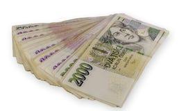 Tsjechisch geld Royalty-vrije Stock Foto's