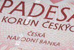 Tsjechisch Geld royalty-vrije stock fotografie
