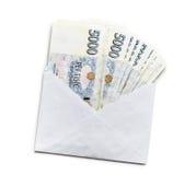 Tsjechisch geld in envelop Stock Foto's