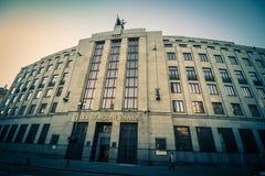 Tsjechisch National Bank in Praag, Tsjechische Republiek stock foto